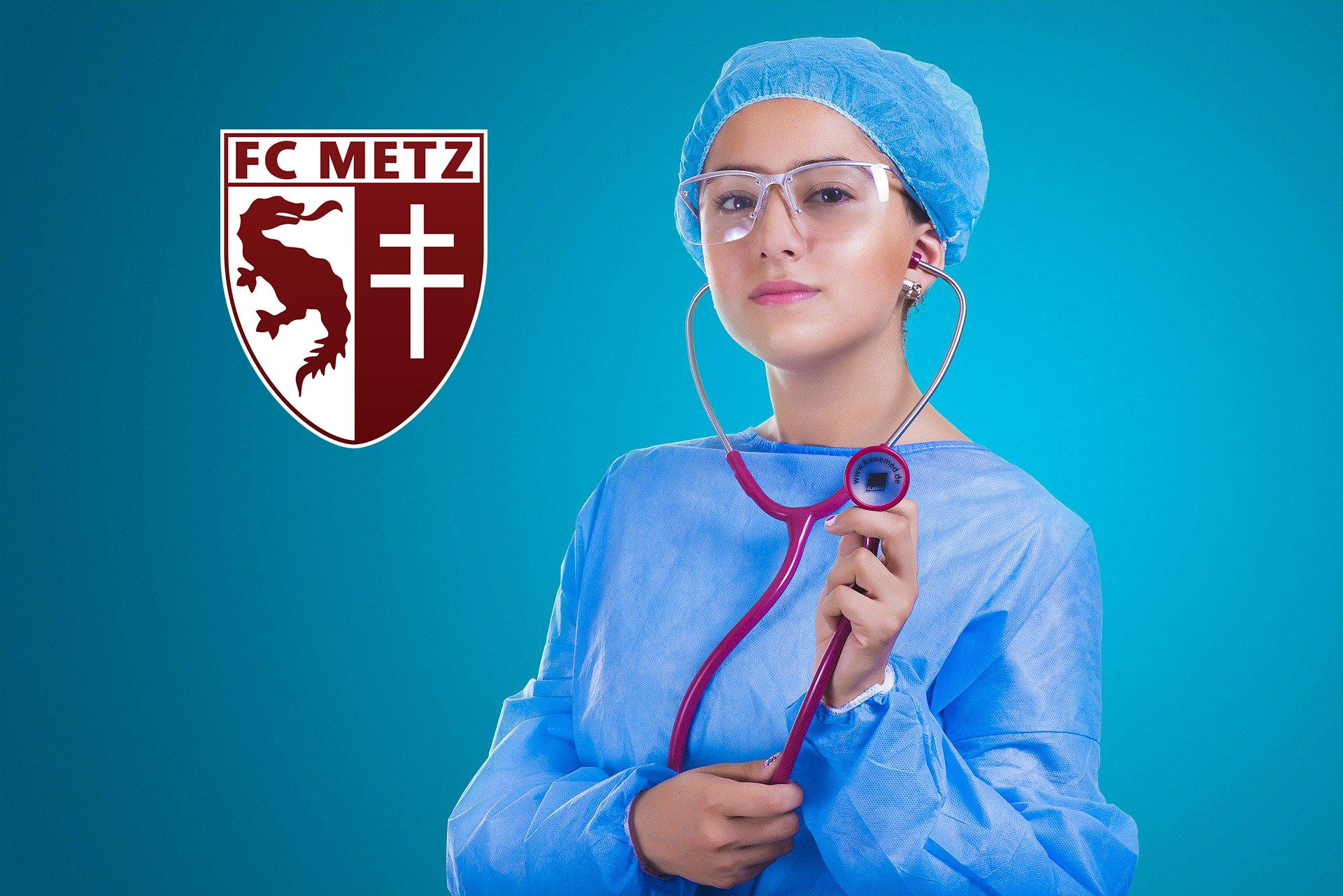Infirmière FC Metz – image libre de droits